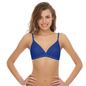 Cotton Non-padded Bra In Blue