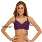 Cotton Rich Non-padded Full Support Bra In Purple