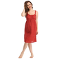 Cotton Dress With Cute Ruffles In Maroon