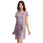 Lavender Short Nightie With Belted Waist_2