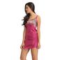 Satin Short Nighty With Robe - Purple