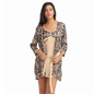 Satin Short Nighty With Robe - Beige