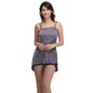 Short Baby Doll Nighty With Lace Hem - Purple