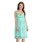 Knee-length Nightie with Lace at Hem - Green
