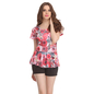1 Pc Polyamide Padded Floral Print Swimsuit In Red