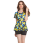 1 Pc Polyamide Padded Floral Print Swimsuit In Yellow