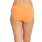 Orange Cotton Spandex Hipster With Contrast Lace At Front Waist
