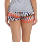 Orange Cotton Shorts With Funky Print