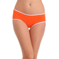 Orange Cotton Spandex Hipster With Scattered Dotted Print