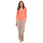 Orange Cotton Top & Pyjama With Lace Trims
