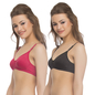Pack Of 2 Bra In Pink And Black