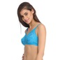 Pack Of 2 Cotton & Lace Non-Padded Wirefree Full Cup Bra - Multicolor