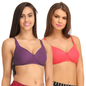 Pack Of 2 Cotton Non-Padded Full Cup Bra- Multicolor