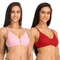 Pack Of 2 Cotton Non-Padded Non-Wired Bra With U Back