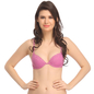 Push Up Plunge Lace Bra In Lavender With Demi Cups
