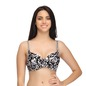 Padded Push Up Demi Cup Underwired T-Shirt Bra With Detachable Straps - Grey