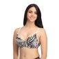 Padded Push Up Demi Cup Underwired T-Shirt Bra With Detachable Straps - White