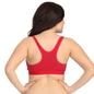 Padded Red Sports Bra With Full Cups