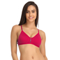 Pink Cotton Non-Padded Non-Wired Bra With U Back