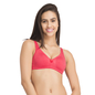 Pink Cotton Non-Wired Non-Padded Plus Size Bra With U Back