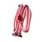 Pink Detachable Double String Straps With Rhinestone Heart