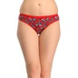 Set Of 3 Multi-coloured Cotton Mid Waist Bikinis