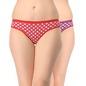 Set Of 2 Cotton Mid Waist Bikini - Multicolor