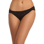 Cotton Spandex Bikini With Mid Waist Coverage - Black