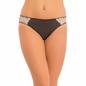 Mid Waist Bikini With Side Lace - Black