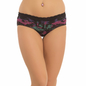 Cotton Mid Waist Hipster With Lace Waist - Black