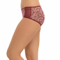 Cotton High Waist Hipster - Maroon