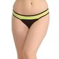 Cotton Low Waist Colour Block Bikini - Green