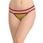 Cotton Low Waist Colour Block Bikini - Pink