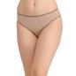 Cotton Mid Waist Bikini With Contrast Elastic Trim - Skin