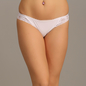 Mid Waist Bikini With Lace Wings - White