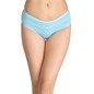 Cotton Striped Mid-Waist Bikini - Blue