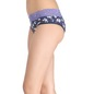 High-Waist Printed Hipster with Lacy Waist - Blue