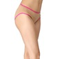 Cotton Mid-Waist Bikini with Contrast Elastic Band - Beige