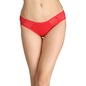 Cotton Mid-Waist Bikini with Powernet Wings - Red