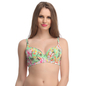 Floral Push Up Bra In Green With Detachable Straps