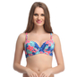Floral Push Up Bra In Royal Blue With Detachable Straps