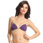 Polyamide Front Open Bra In Purple With Halter Straps