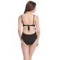 Polyamide & Powernet Monokini Swimsuit In Black