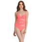 Polyamide & Powernet Monokini Swimsuit In Orange