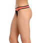 Polyamide & Powernet Thong In Peach