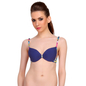 Blue Push-Up Bra With Plunge Neck & Back Detachable Straps