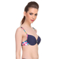 Push-Up Bra In Navy With Plunge Neck & Back Detachable Straps