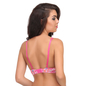 Push-Up Balconette Bra In Pink With Detachable Straps