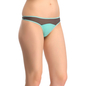 Polyamide & Powernet Thong In Light Green