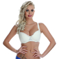 Plus Size Padded Bra In Off-White With Demi Cups